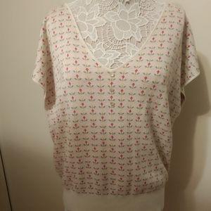 ModCloth Floral V Neck Sweater